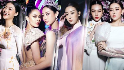 Lương Thùy Linh đọ sắc với Miss World 2013 - Megan Young, Đỗ Mỹ Linh - Tường San - Kiều Loan đẹp rạng rỡ