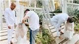 Hé lộ loạt ảnh hậu trường đám cưới vừa xinh đẹp, vừa 'lầy lội' của Xuân Lan và ông xã Việt kiều Mỹ