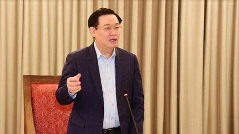 Bí thư Vương Đình Huệ đề nghị thành phố đề xuất với Thủ tướng cho Hà Nội kéo dài giãn cách xã hội đến 30/4