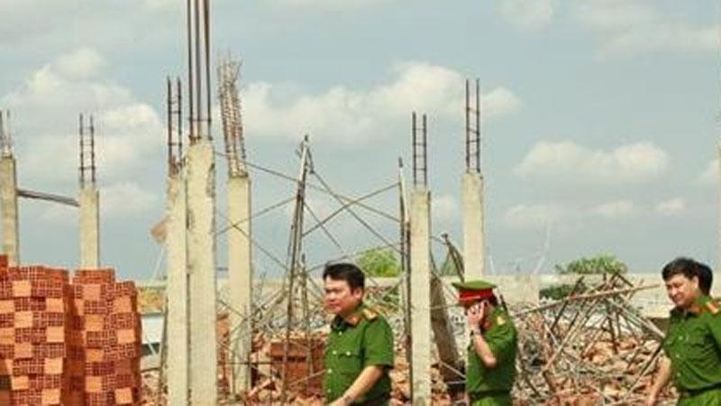 Tạm giữ Giám đốc, Phó giám đốc Công ty TNHH Hà Hải Nga vì vụ sập tường khiến 10 người tử vong ở tỉnh Đồng Nai