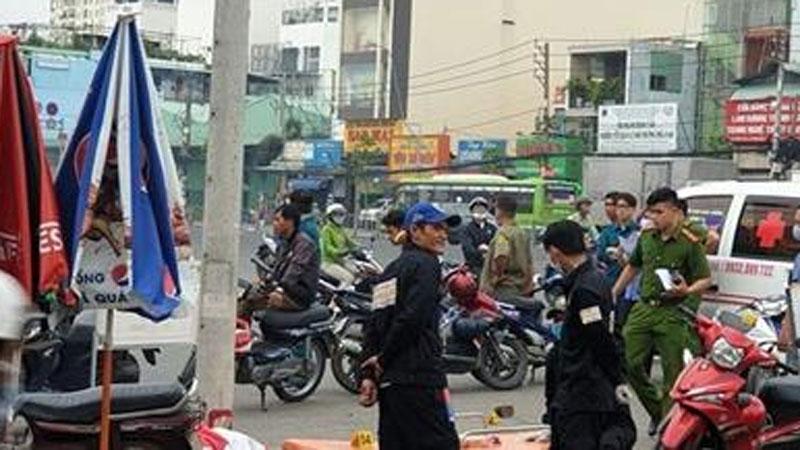 Tài xế Grab bị đâm chết: Chiếc xe máy tại hiện trường
