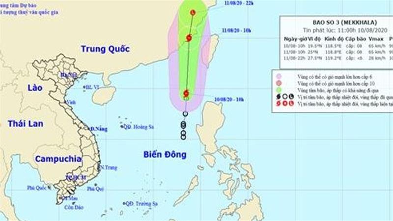 Áp thấp nhiệt đới đã mạnh lên thành cơn bão số 3 - bão Mekkhala