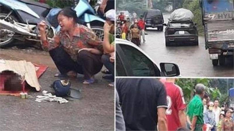 Người thân gào khóc bên thi thể cô gái trẻ chết thảm dưới bánh xe tải