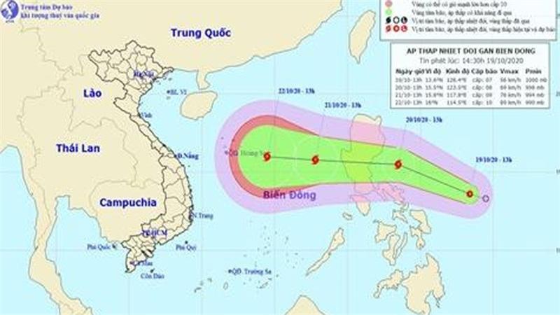 Áp thấp nhiệt đới giật cấp 9, khả năng thành bão trong 24 giờ tới