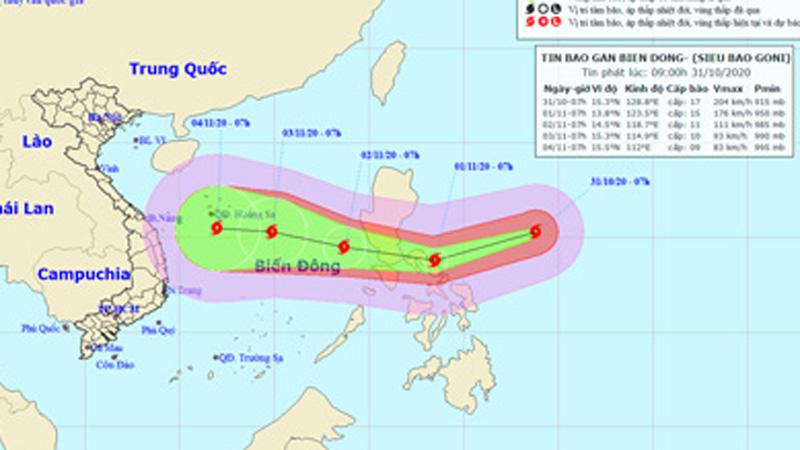 Tin mới nhất về siêu bão Goni giật trên cấp 17