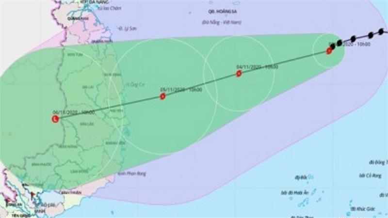 Tin bão số 10 khẩn cấp: Bão mạnh cấp 8, giật cấp 10, hướng vào Quảng Ngãi - Khánh Hòa