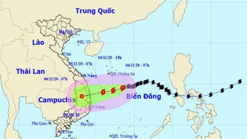 Bão số 10 mạnh cấp 8, giật cấp 10 đang hướng vào các tỉnh từ Quảng Ngãi đến Khánh Hòa