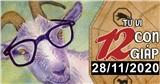 Tử vi thứ 7 ngày 28/11/2020 của 12 con giáp: Mùi dễ trúng thưởng, Tuất chìm đắm trong quá khứ