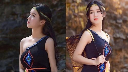 Thiếu nữ Đắk Lắk gây thương nhớ cực mạnh trong trang phục dân tộc Ê Đê