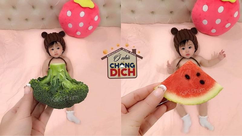 Fan cứng của hội 'yêu bếp' đích thị là đây: thiết kế trang phục từ rau củ quả siêu độc cho bé yêu tỏa sáng