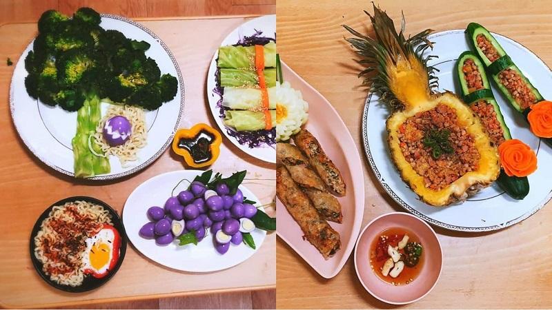 Chia sẻ loạt món ăn đẹp như nhà hàng, cô gái khiến dân mạng muốn 'lăn' ngay vào bếp