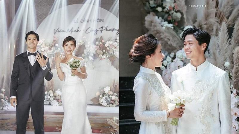 Công Phượng chính thức lên tiếng sau lễ ăn hỏi bí mật, tung ảnh đính hôn hạnh phúc bên cô dâu xinh đẹp