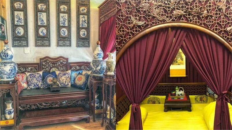 Chàng trai Hà Nội lên ý tưởng decor phòng ngủ 20m2: Phong cách 'cổ trang' với nhiều vật dụng quý hiếm