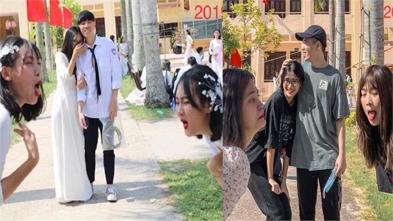 Sự thật ít biết về bức ảnh được cosplay từ màn 'cà khịa' cặp đôi đang yêu nhau của nhóm bạn trong lễ khai giảng