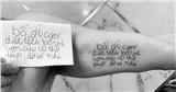 Ông bố 'copy' tâm thư nguệch ngoạc, sai chính tả của con gái lên tay: Có những điều nhỏ bé có tiền cũng chẳng mua được!