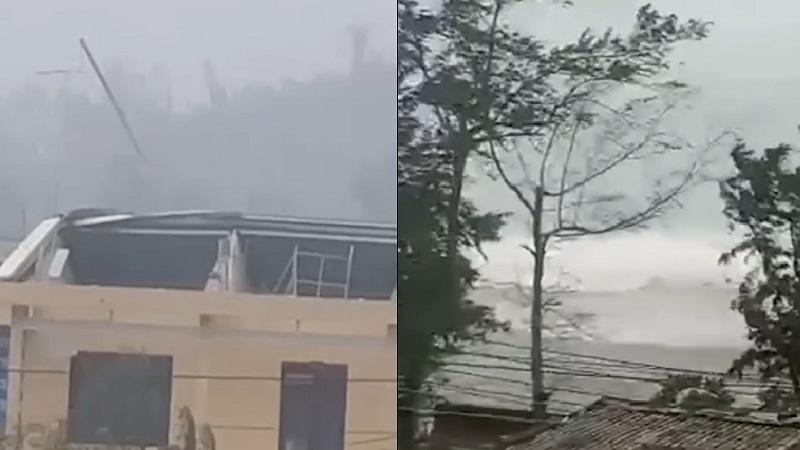 Nhìn những mái nhà tốc ngói vì sức gió khủng khiếp của bão số 9, người dân miền Trung chỉ biết kêu lên thành tiếng: 'Trời ơi'