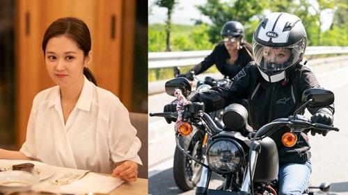 Nhìn thanh lịch và nữ tính như vậy, nhưng Jang Nara lại có sở thích đua moto siêu ngầu trong phim 'V.I.P'
