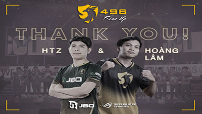 496 Gaming chia tay 2 tuyển thủ sau tấm HCĐ SEA Games 30