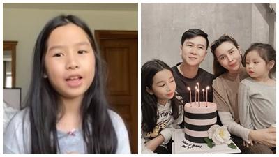 Mới 9 tuổi, con gái Lưu Hương Giang - Hồ Hoài Anh phỏng vấn mẹ bằng tiếng Anh nhưng đây mới là điểm gây bất ngờ