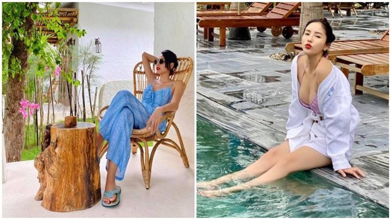 Hoa hậu Kỳ Duyên về quê Minh Triệu nghỉ dưỡng