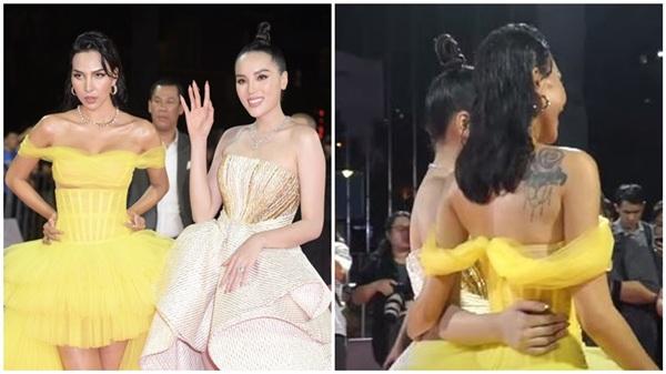 Kỳ Duyên - Minh Triệu ôm eo cực tình trong chung kết Hoa hậu Việt Nam 2020