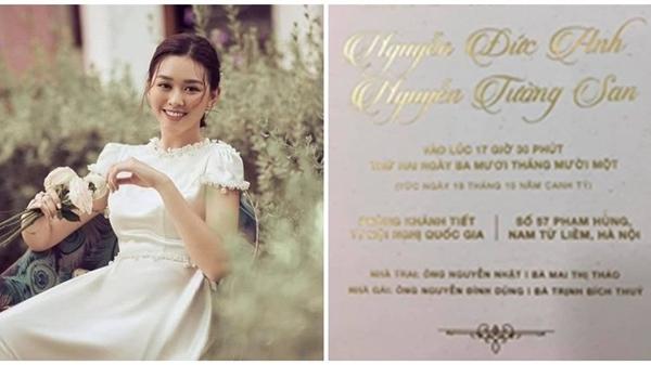 Hé lộ đám cưới Á hậu Tường San trước giờ G