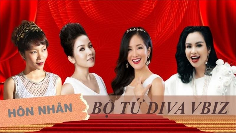 Hôn nhân của bộ tứ Diva showbiz Việt: Người êm đềm hạnh phúc, người lận đận truân chuyên