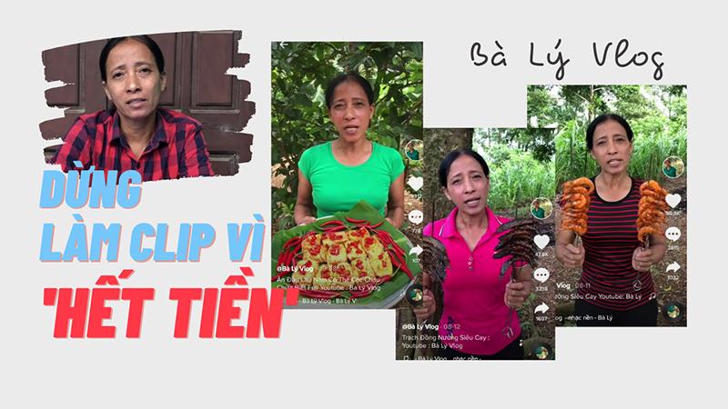 Sau 2 tháng làm video ẩm thực, Bà Lý Vlog bất ngờ tuyên bố tạm dừng tất cả vì... hết tiền