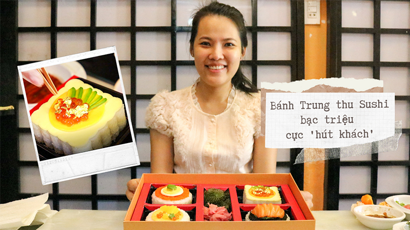 Bánh trung thu sushi giá 1,5 triệu/hộp đang hot, có tiền chưa chắc đã mua được