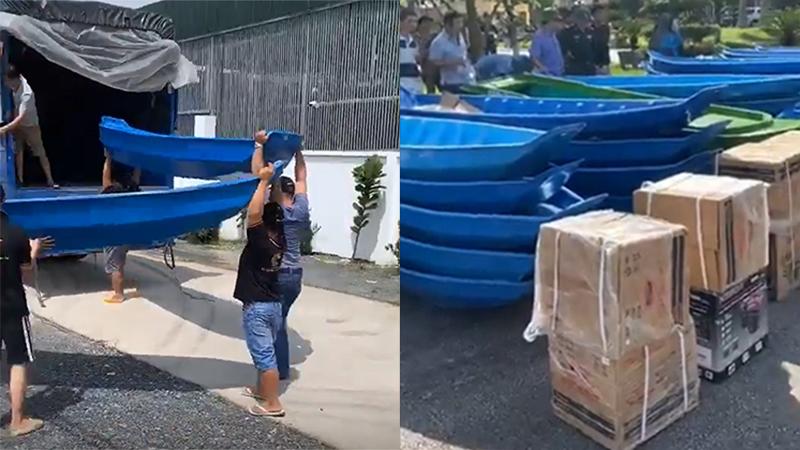 Người miền Tây quyên góp 94 ghe thuyền, hơn 200 áo phao gửi miền Trung cứu trợ người dân vùng lũ