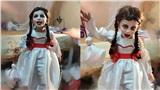 Màn hóa trang 'đỉnh' nhất Halloween 2020: Cậu bé vào vai búp bê Annabelle nhờ tài trang điểm, may váy của mẹ