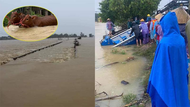 Nghệ An vẫn chìm trong biển nước, nhiều nơi bị cô lập, giao thông tê liệt