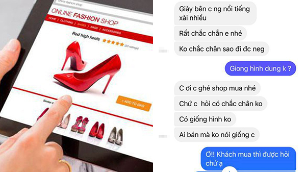 Khách hàng mua giày hỏi 'có giống hình không', phía shop đáp trả cực gắt khiến dân tình tranh cãi dữ dội