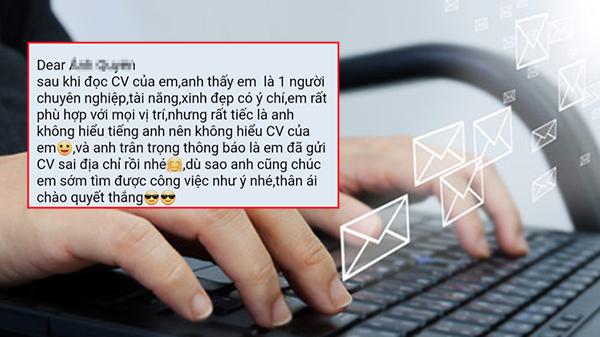 Gửi CV xin việc nhầm địa chỉ email, cô gái nhận về phản hồi ấm lòng