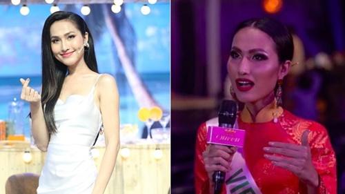 Hoài Sa được khen ngợi vì trả lời phỏng vấn bằng tiếng Anh nhưng lại bị chê do lối makeup tại trong Miss International Queen 2020