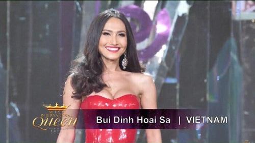 Bán kết Hoa hậu Chuyển giới: Đại diện Việt Nam rực rỡ với váy dạ hội đỏ, tự tin trình diễn bikini