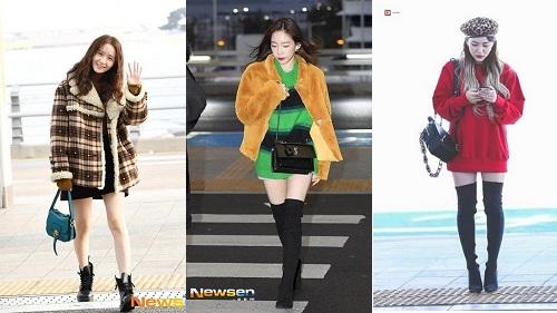 Dàn sao Hàn gợi ý thời trang sân bay phong cách với đôi boots cho phái đẹp