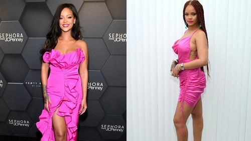 Giật mình khi đặt style Hwasa và Rihanna lên bàn cân: Không 'copy - paste' thì cũng giống tông màu, na ná phụ kiện