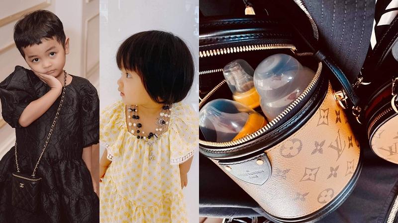 'Ông bố bỉm sữa' Đỗ Mạnh Cường: 'Mạnh tay' tặng túi 105 triệu cho con, đựng sữa vào túi Louis Vuitton