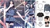 Stylist lại trổ tài, lần này Jisoo còn được mặc phiên bản cắt của chiếc áo Dior hơn 60 triệu đồng