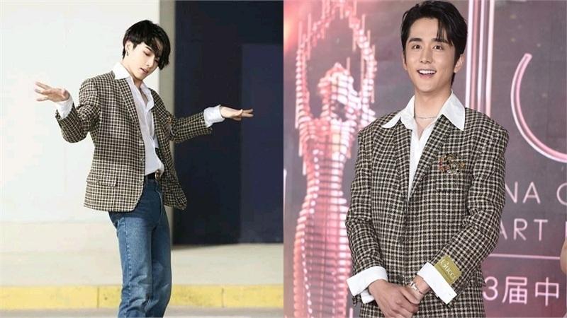 Jung Kook 'chạm trán' từ tiền bối, bạn thân tới mỹ nam Hoa Ngữ khi mặc chiếc áo blazer của Gucci khiến