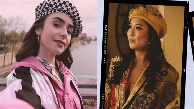 Học ngay hai 'nàng thơ' trong 'Emily in Paris' loạt tips mix&match trang phục với chiếc mũ beret cực thời trang