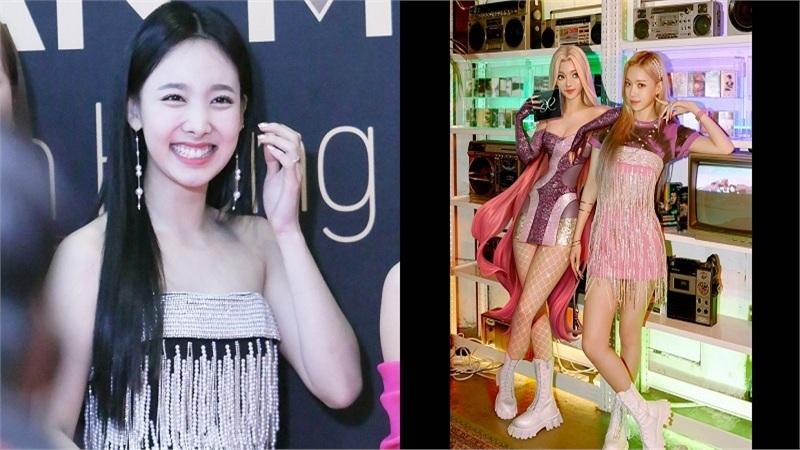 Vừa ra mắt, 'gà' mới của SM đã 'debut' ngay màn đụng hàng chiếc váy từng được Nayeon mặc hai năm trước