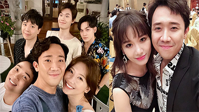 Vợ chồng Trấn Thành - Hari Won 'chơi tới bến' bao hết từ A đến Z nhân dịp sinh nhật Trịnh Thăng Bình
