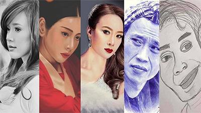 Loạt sao Việt được fan phác họa chân dung: người chân thật đến ngỡ ngàng, người nhìn lâu lắm mới nhận ra