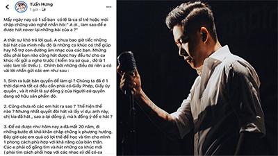 Tuấn Hưng chia sẻ quan điểm về vấn đề ca sĩ trẻ xin cover hit cũ tràn lan hiện nay