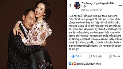 Tiến Luật 'chơi' bà xã Thu Trang 'một cú đau' khi gọi ra tiệm vàng lấy nhẫn, nhưng phải tự trả tiền