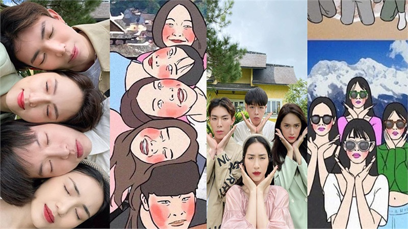 Gia đình 'Hoa dâm bụt' cùng Hương Giang Idol gây bão MXH với loạt ảnh 'chất phát ngất'