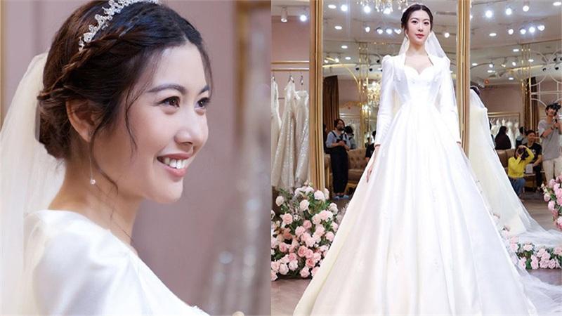 Thúy Vân khiến dân tình 'lụi tim' khi diện váy cưới xinh lung linh