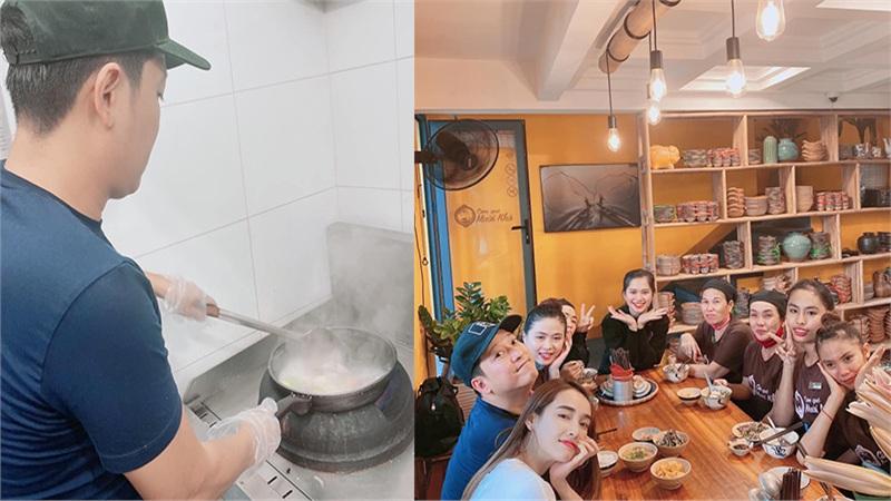 Trường Giang đích thân vào bếp nấu ăn cho nhân viên, Nhã Phương tự hào: 'Tôi thương ổng cũng vì điều này'